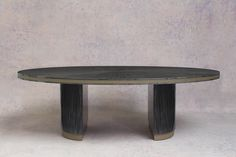 A stunning new dining table collaboration celebrating a 25 year friendship with Taylor Howes. The Howes Table is the result of a 6 month collaborative process which is hand carved & finished in a beautiful pebble anegre, a new finish to add to DAVIDSON's Modern Dining Room Tables, Luxury Dining Room, Dining Table, Table Furniture, Luxury Furniture, Furniture Design, Pebble Grey, Contemporary Classic, Architecture Design