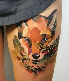Fox Tattoo by Sasha Unisex.