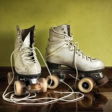 Use to love mine and use them often at the Oak Lawn Roller Rink, 92nd & Cicero (before the tornado)  Retro roller skates- mine were much whiter though!!