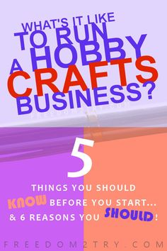 Hobby Business Insight - I write about the not so shocking realities of running an online hobby -crafts business. If you're looking for tips and tricks before starting your own - read this! #crafts #hobbies #biz #workfromhome