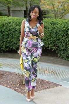bow belt with peplum top // Prissysavvy