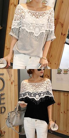 Batwing with Crochet Top....I love the black one the best.