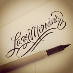 The art of hand lettering- Matthew Tapia