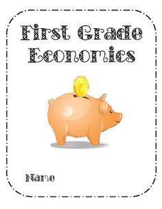 Free downloadable first grade economics book from teacherspayteachers.com