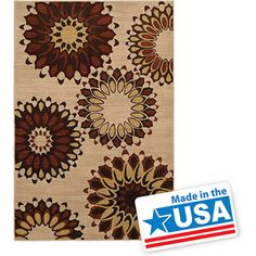 "Mohawk Hippie Chic Rust Woven Area Rug, Heather, 5'3"" x 7'10"""