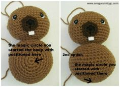 Make this super cute and easy amigurumi Beaver yourself with this free pattern! An Amigurumi To Go original design 2013