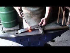 How to forge a pair of flat jaw tongs with Connor Bachmann - YouTube