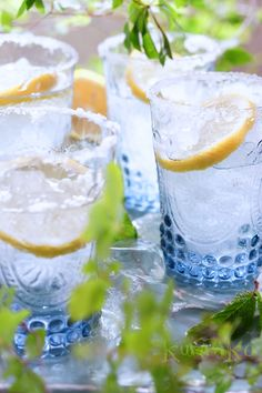 Lemonade, cold drink, salt snow style