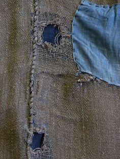 Sri | A Three Panel Rustic Boro Hemp Kaya: Reversible
