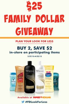 $25 Family Dollar Giveaway (ends April 27)