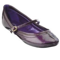 Women's Mossimo® Vlasta Patent Mary Jane Ballet Flats - Purple : Target    $24.99