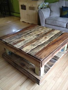 Coffee Table Made from Paint Pallets