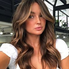 Brown Hair Balayage, Hair Color Balayage, Hair Highlights, Brown Blonde Hair, Ombre Hair, Cabelo Inspo, Dye My Hair, Brunette Hair, Sunkissed Hair Brunette