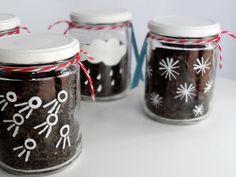 decoração de frascos de vidro