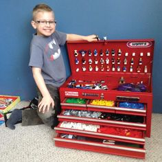 Lego Storage using a toolbox