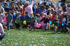 Excited children's anticipation ran high as they were awaiting the start of Stapleton's Egg Scramble! You can tell it was worth the wait.