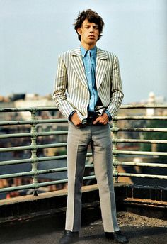 Mick Jagger photographed on the roof of his rented London mews house by Bent Rej in 1965 #rollingstones #mickjagger