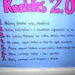 Wasze wypracowane klasowe Kodeksy 2.0. Zachęcam do dyskusji nad kolejnymi punktami, aby ostatecznie przybrały one jednolite brzmienie dla całej szkoły.