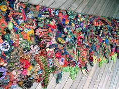 freeform crochet & knit wallhanging | Flickr - Photo Sharing!