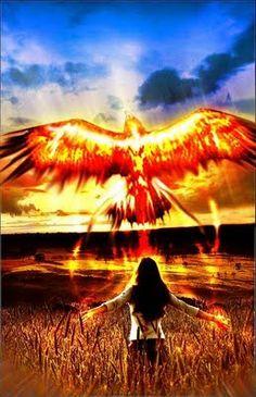 From the ashes, we will rise... #JuniorPhoenixes Phoenix Rising, Dark Phoenix, Phoenix Wings, Golden Phoenix, Phoenix Bird, Spiritual Warrior, Still I Rise, Photo D Art, Kinds Of Birds
