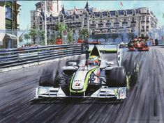 Formula 1 Car, Vintage Race Car, Car Drawings, Automotive Art, Car Painting, Sports Art, Car Wallpapers, Conceptual Art, Grand Prix