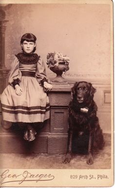 Young girl and her dog in Philadelphia