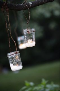 I'm going to do this in the trees for my back yard wedding.  #everydayclever
