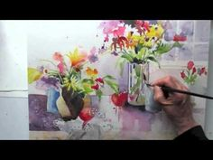 A Bunch of Flowers watercolor by Jan Pastor Part 3