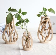 Add creative natural style to your space with a gorgeous wooden vase! Made from wood & glass. Measure approximately x x Sold individually. Free Worldwide Shipping & Money-Back Guarantee Wooden Vase, Wooden Planters, Wooden Decor, Driftwood Projects, Driftwood Art, Beach Themed Crafts, Wooden Figurines, Branch Decor, Plant Decor