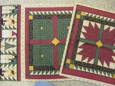 """CHRISTMAS HOLIDAY TREES & SNOWMEN 2 Pillow/Quilt Squares 16"""" Leslie Beck Fabric"""