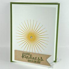 Handmade Kindness Thank You or Friendship Card With Sun Burst   cardsbylibe - Cards on ArtFire #ckdin