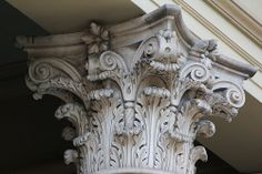 Corinthian Capital on the old Customs House in central Brisbane, Australia