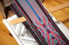 Katharina Urban, FRSASA Master Weaver  weaving in progress 640