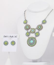 "18"" Blue & Green Necklace"