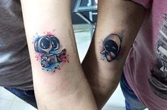 unusual couple tattoo
