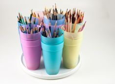 Make a Revolving Colored Pencil Caddy with Lift-out Cups — Marjorie Sarnat Design & Illustration
