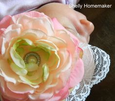 Shelly Homemaker: Faux Flower Headbands, perfect for photo shoots and just a fun statement piece, so easy to make!