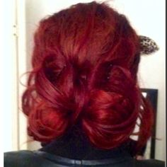 love the #hair #style #dye #diy #hairstyle #bun #bow