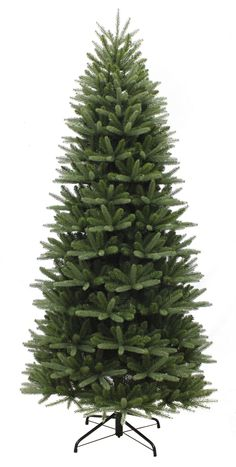 7 5ft Washington Valley Spruce Slim Feel Real Artificial Christmas Tree Slim Christmas Tree