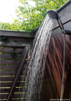 Our outside shower - best thing ever! - design by Gwentibold
