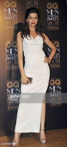 Indian Bollywood actress Deepika Padukone poses during India's GQ Men of The Year Awards 2011 event in Mumbai on september 29, 2011.
