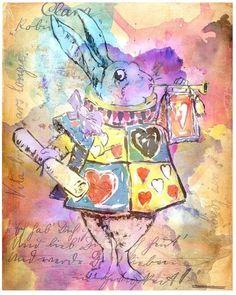 Le white rabbit de Alice au pays des merveilles