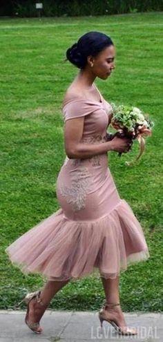 Off The Shoulder Mermaid Dusty Pink Bridesmaid Dresses Online, WG782 #bridesmaids #bridesmaiddress #bridesmaiddresses #dressesformaidofhonor #weddingparty #2020bridesmaiddresses