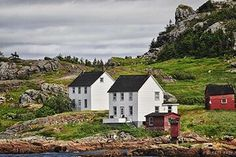 """"""" The Twins"""" Salvage, BB ,NL Newfoundland Canada, Newfoundland And Labrador, Salt And Water, The Incredibles, Cabin, Island, Mansions, Family History, World"""