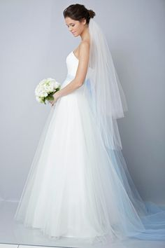 2013 wedding dress by Theia bridal gowns tulle sky blue sash B Theia Bridal, Bridal Gowns, Summer Wedding, Dream Wedding, Wedding Things, Wedding Stuff, Perfect Wedding, Cheap Wedding Dresses Uk, Wedding Veils