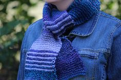 Do you remember your first garter stitch scarf? Share your love of knitting with someone special! Teach them to knit with this simply beautiful pattern, made with Lion Brand Tweed Stripes!