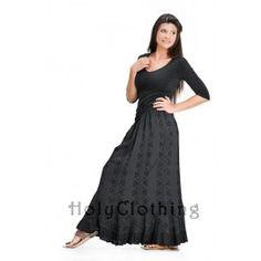 Seanna A Line Scalloped Ruffle Hem Gypsy Peasant Boho Skirt - Skirts