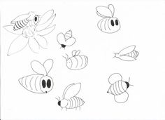 27 best honey bee images how to draw hands a logo legos Family of Bees i started out by drawing lots of bees in different styles and shapes