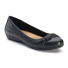 Croft & Barrow® Women's Ortholite Bow Ballet Flats, Black