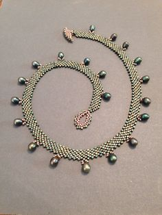 Seed bead woven necklace. Also available in my Etsy shop. Beth Stone